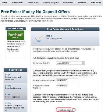 free cash bonus no deposit poker
